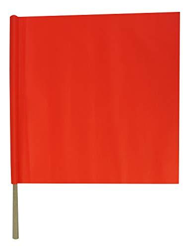 (Orange Safety Flag with Handheld Wooden Dowel - 18