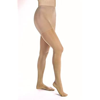 Image of BSN Medical 115279 Jobst Opaque Compression Hose with Closed Toe, Waist High, Medium, 20 mm - 30 mm HG Size, Natural