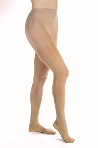 JOBST Opaque Waist High 20-30 mmHg Compression Stockings Pantyhose, Closed Toe, Large, Natural