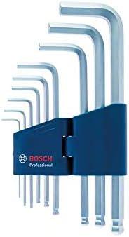 Bosch Professional 1600A01TH5 Jeu de 9 cl/és Allen coud/ées Hex 1,5-10,0mm Bleu