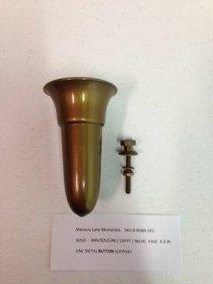 Amazon.com: Niche / Mausoleum Flower Vase - 4 IN on Support ... on us metalcraft vases, niche flower holders, cemetery vases, floral vases, niche wall art, graveside vases, bud vases,