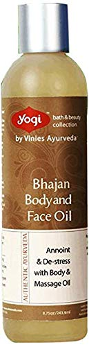 Yogi Bath and Beauty Authentic Ayurveda Bhajan Body & Face Oil, 8.75 Ounce (Best Ayurvedic Beauty Products)