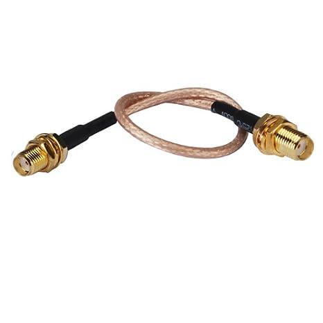 """40 """"RF Cable coaxial SMA hembra Bulkhead recto hembra a SMA conector pasamuros de"""