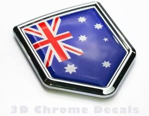 Round Australian Flag Sticker Die Cut Decal Self Adhesive Vinyl Car Bumper Decor