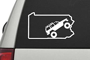 Jeep Cherokee Xj Pennsylvania State Decal Sticker White 7 0192