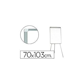 Q-Connect Pizarra Blanca Con Trípode 95X65 Cm Para Convenciones Superficie Lacadamagnetica Escritura Directa