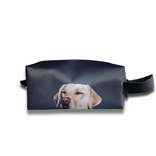 Clash Durable Zipper Wallet Makeup Handbag With Wrist Band Sleepy Pug Toiletry Bag