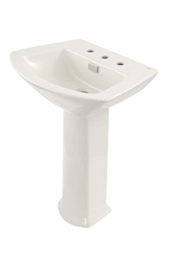 (TOTO LPT962.8#03 Soiree Lavatory and Pedestal with 8-Inch Centers, Bone )