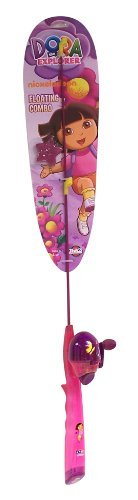 Zebco Dora the Explorer Floating Fishing Rod and Reel with Line, Outdoor Stuffs