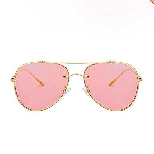 Color Transparente Sol UV Lente Color Harajuku 1 Estilo Protección 4 de Mujer Retro DT Gafas de Gafas de Sol vSFFa