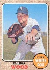 1968 Topps Regular (Baseball) card#585 Wilbur Wood of the Chicago White Sox Grade Very Good