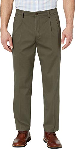 Dockers Men's Easy Khaki D3 Classic Fit Pleated Pants Olive Grove 32 32 (Dockers Classic Pleated)