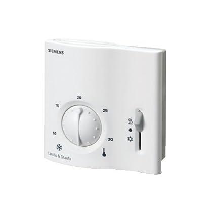 Siemens; RAA31; Termostato serie standard con potenciómetro e interruptor marcha/paro