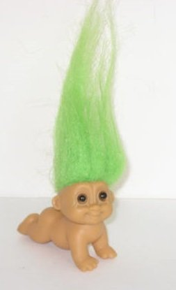 amazon com crawling baby russ troll doll 2 green hair toys games