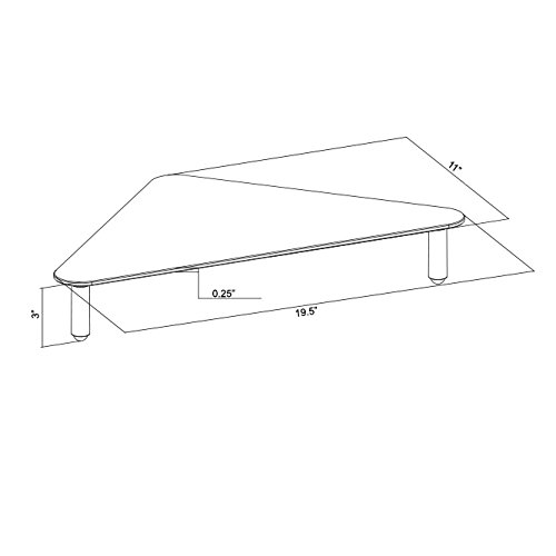 VIVO Glass Ergonomic Tabletop Riser | Triangle Desktop Universal Corner Stand for Computer Monitor & Laptop (STAND-V000Q) by VIVO (Image #7)