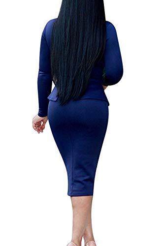 Travail Coloré S'habillent En Mi Longues Bleu Les Medium Hiver F1J3uTlK5c