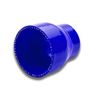 2 inches To 2.5 inches Straight Turbo/Intercooler/Intake Piping Coupler Reducer Silicone Hose (Blue): Automotive