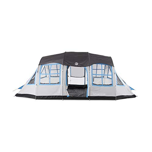 Tahoe Gear Prescott 12 Person 3 Season Instant Outdoor Family Camping Cabin Tent