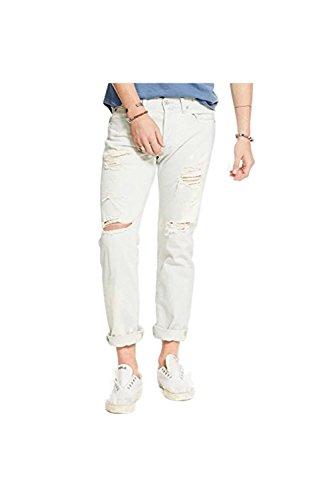 Denim & Supply Ralph Lauren Men's Slim-Fit Destructed Ripped Jeans (34x32)