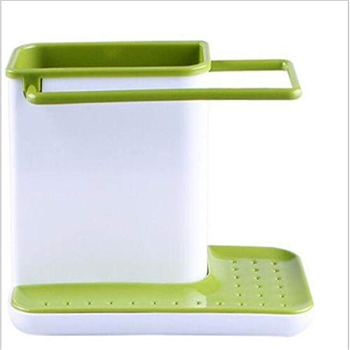 (| Bags & Baskets | Multi-functional Sponge Kitchen Box Drain Rack Dish Self-priming Sink Storage Kitchen Organizer Bathroom Utensils Towel Rack | by NAHASU)