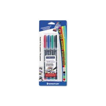 STD317CDWP4BK - Lumocolor CD/DVD Permanent Marker Set