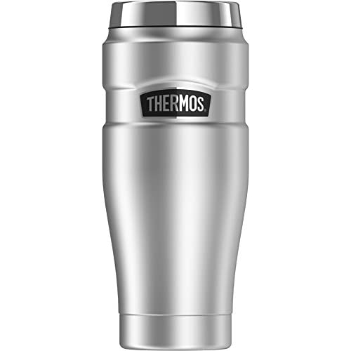 Thermos Stainless King 16 Ounce Travel Tumbler, Stainless Steel