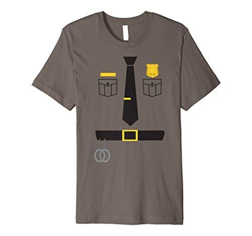 Police Sheriff Uniform Costume TShirt | Funny Halloween Gift