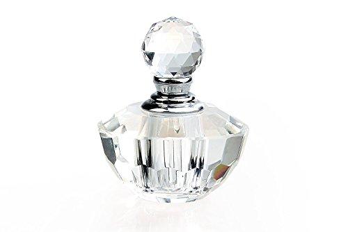 H&D Vintage Clear Crystal Empty Refillable Mini Perfume Bottle 2ml