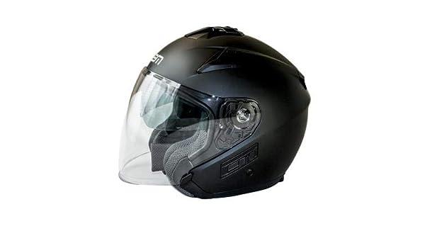LEM - QUICK056XS/93 : LEM - QUICK056XS/93 : Casco Jet Pantalla Larga Quick Color Negro Talla XS: Amazon.es: Coche y moto