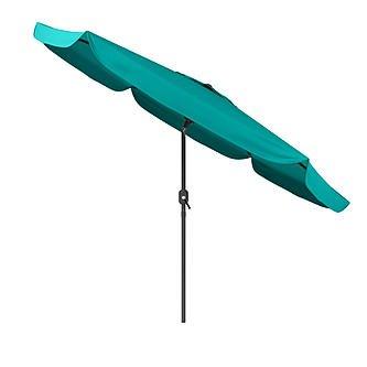 CorLiving 10ft Round Tilting Patio Umbrella -Turquoise ()