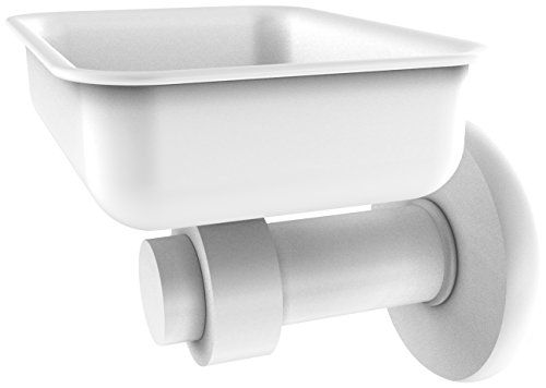 Allied Brass 932-WHM Mercury Collection Wall Mounted Soap Dish Matte ()