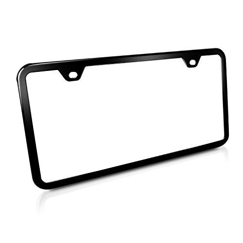 license plate frame black 2 hole - 9
