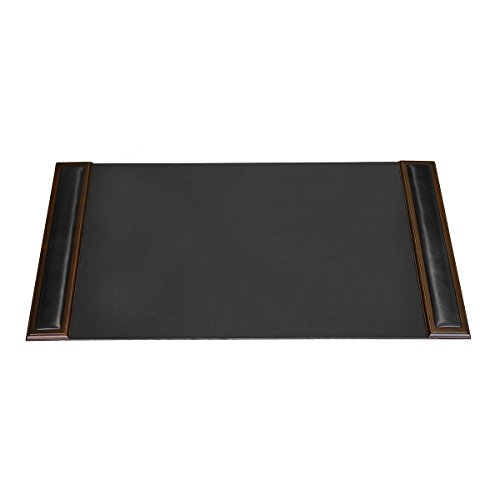 Dacasso Walnut and Leather Desk Pad with Side-rails,34 by 20 Inch by Dacasso