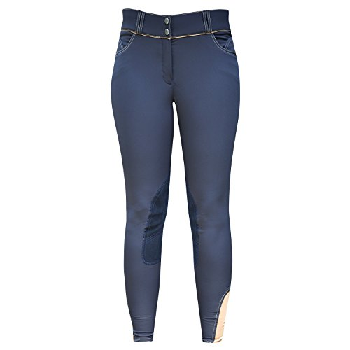 Elation Riding Breeches for Women Platinum Brooklyn – Ladies Equestrian Riding Pants (Navy