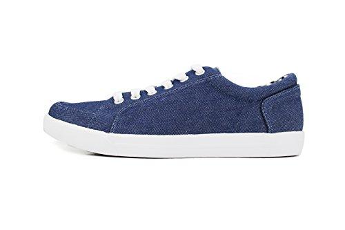 Sneaker Leggera Di Denim Blu Da Donna
