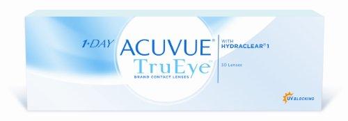 Acuvue 1-Day TruEye Tageslinsen weich, 30 Stück / BC 8.5 mm / DIA 14.2 / -1.75 Dioptrien