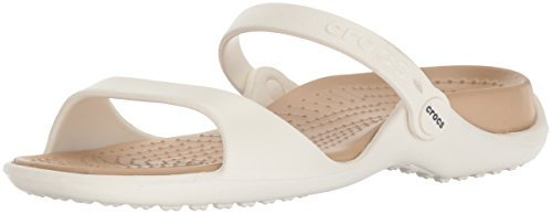 gold Sandales Ouvert 13s Cleo Bout Crocs Blanc Femme oyster q7054xw