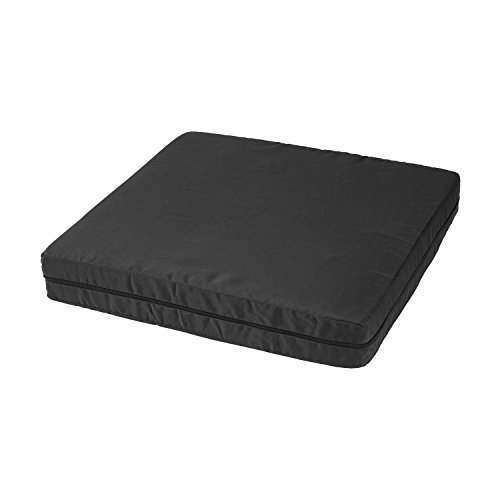 DMI Hypoallergenic Natural Pincore Latex Foam Comfort Seat Cushion Support for Chairs and Wheelchairs with Nylon Oxford Cover, 16 x 18 x 3 inches, Black ()