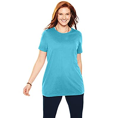 Woman Within Women's Plus Size Perfect Crewneck Tee at Women's Clothing store