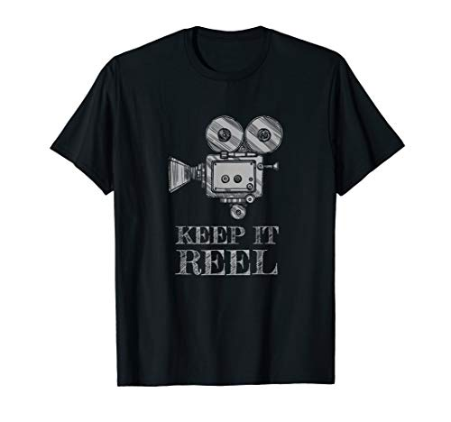 Keep It Reel T Shirt Gift for Filmmakers and Film Fans (Best Gift For Filmmaker)