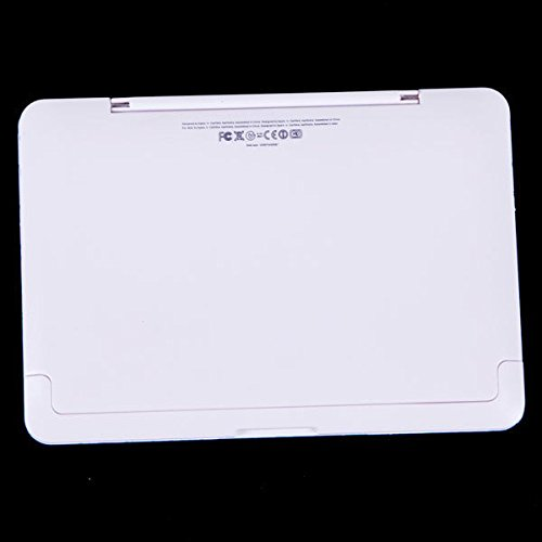 ,dise/ño con forma de cuaderno del ordenador VANKER Espejo de bolsillo con peine 1 unidad Blanco