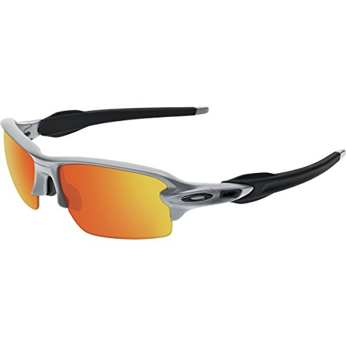 Oakley Men's Flak 2.0 OO9295-02 Non-Polarized Iridium Rectangular Sunglasses, Silver, 59 - Flak 2.0 Oakley Jacket