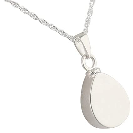 Stylish Teardrop Pendant Stainless Urn Cremation Charms for Necklace Earring