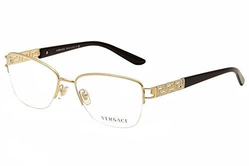 amazoncom versace ve1220b eyeglasses 1002 gold 54mm shoes