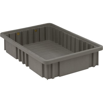 Quantum Storage Systems DG92035GY Dividable Grid Container 16-1/2-Inch Long by 10-7/8-Inch Wide by 3-1/2-Inch High, Gray, 12-Pack