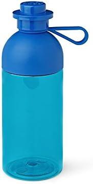Room Copenhagen 40420002 Lego, Botella de Agua Transparente, 500 ml, Apta para Hielo, Azul