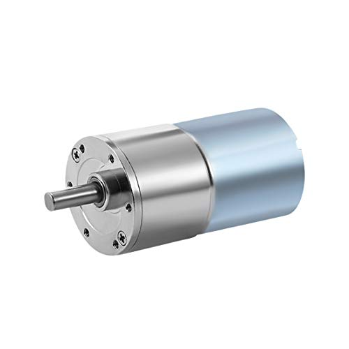 uxcell 12V DC 20RPM Gear Motor High Torque Electric Micro Speed Reduction Geared Motor Eccentric Output Shaft