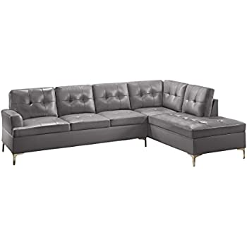 Amazon Com Homelegance Barrington 109 Faux Leather Upholstered