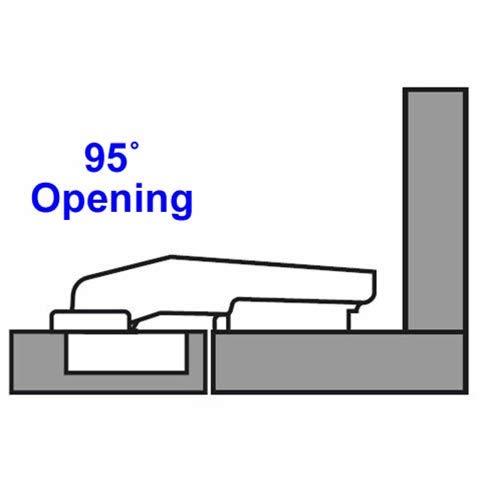 Blum 95° Clip-on Blind-Corner Hinges