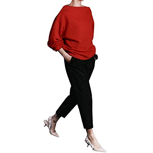 Zhrui Blouse Un Loose unie Women Top collier couleur caractère Hooded de chemise élégante Sweat vêtements Pull Casual rue OqwfrOxg